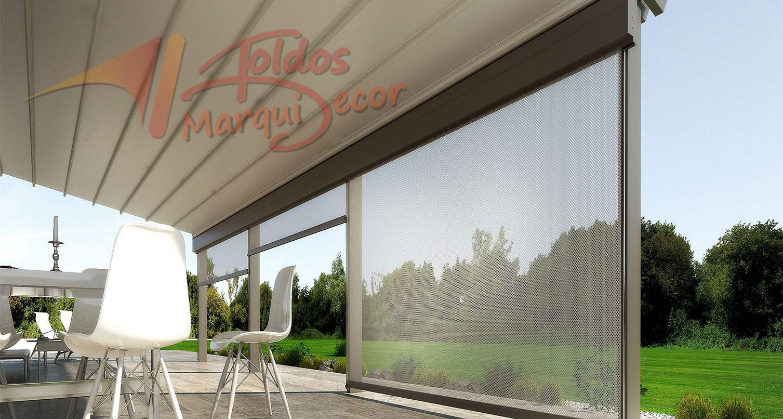 Toldos verticales toldos en madrid fabrica de toldos for Lonas para jardines verticales